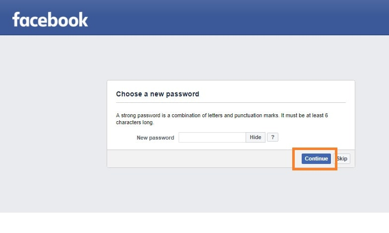 Make Your New Facebook password